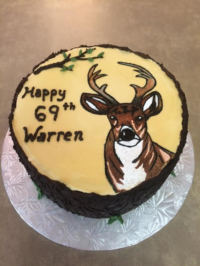 Awesome Deer Birthday Cake Cake By Kerry Cakesdecor Birthday Cards Printable Inklcafe Filternl