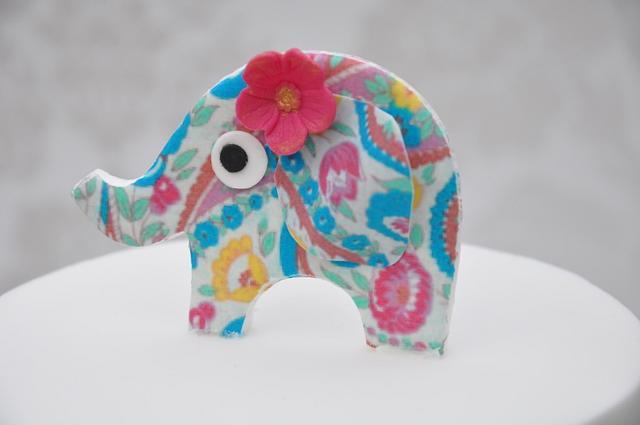 Elephant colour carnival birthday cake
