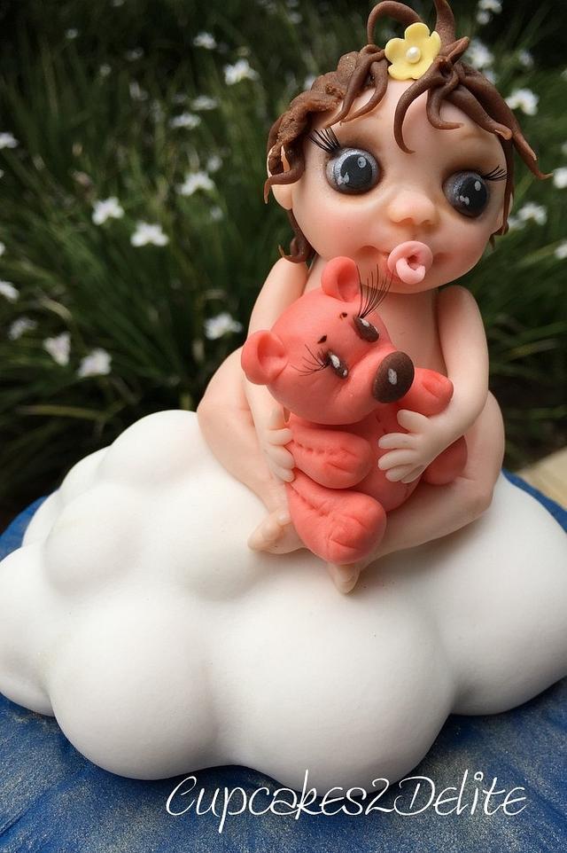 Angel & Teddy on a Cloud