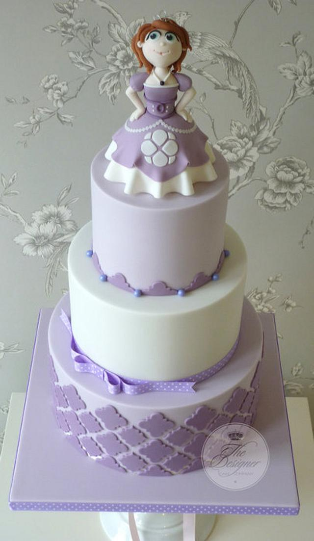 Awe Inspiring Sofia The First Birthday Cake Cake By Isabelle Cakesdecor Personalised Birthday Cards Arneslily Jamesorg