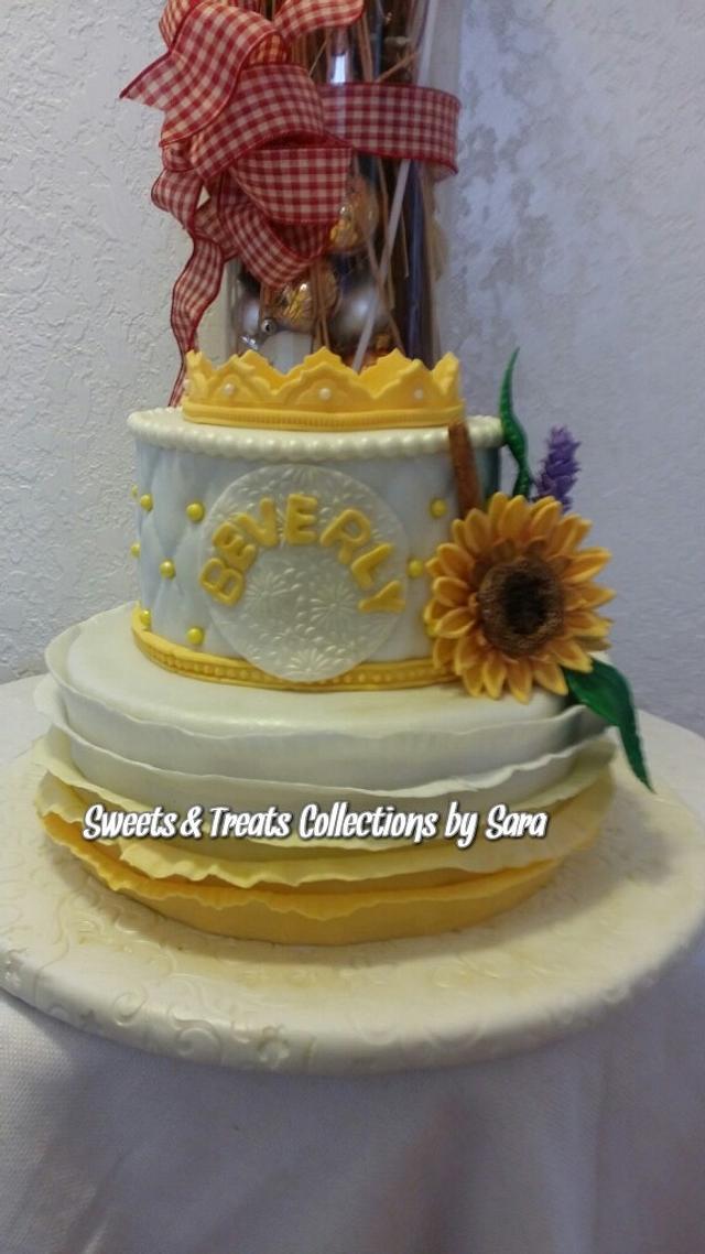 Astounding Sunflowers Birthday Cake Cake By Saracarmela Cakesdecor Funny Birthday Cards Online Necthendildamsfinfo
