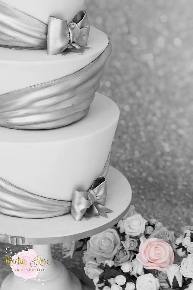 Silver drape wedding
