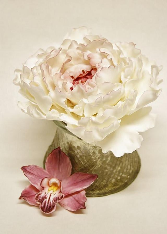 Orchid and peony
