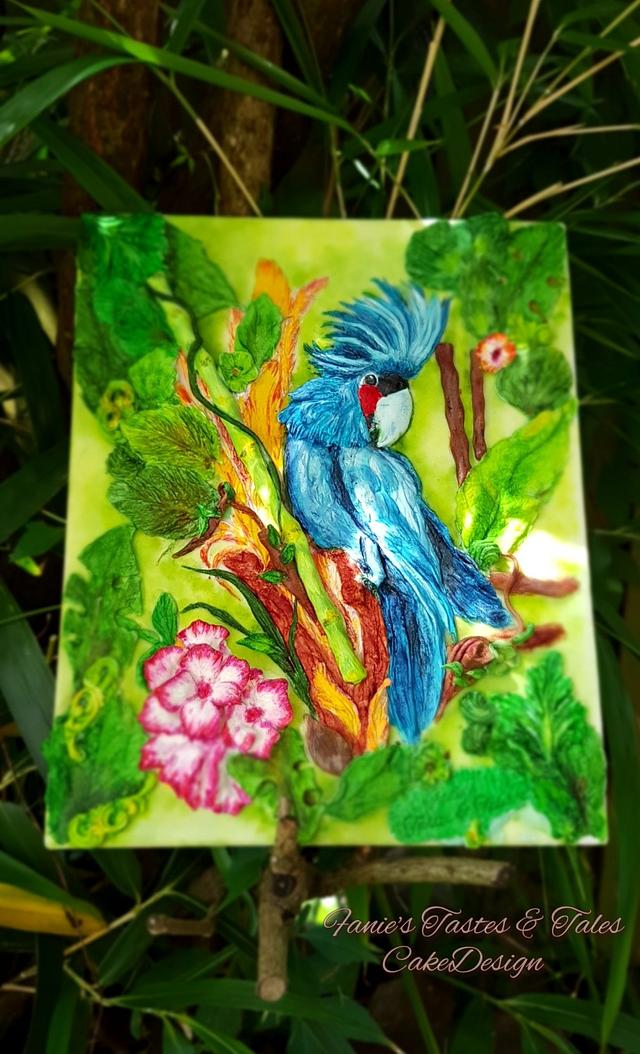 Blue Cockatoo - Magnificent Bangladesh - An International Cake Art Collaboration
