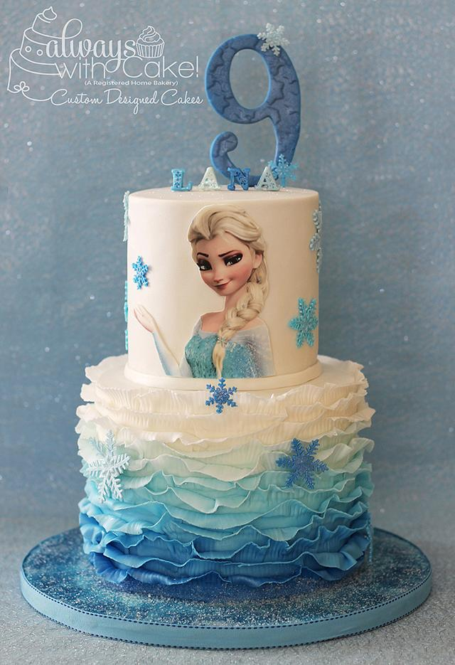 Remarkable Frozen Elsa Birthday Cake Cake By Alwayswithcake Cakesdecor Funny Birthday Cards Online Overcheapnameinfo
