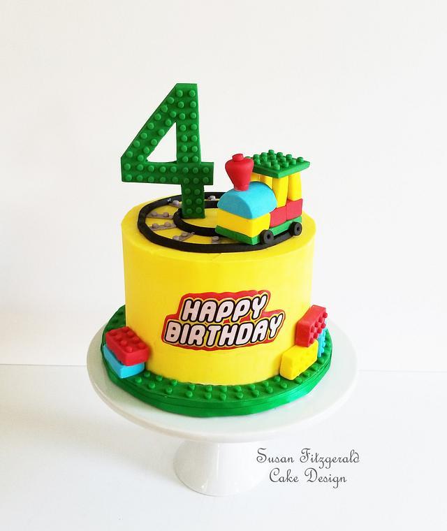 BUTTERCREAM LEGO TRAIN CAKE
