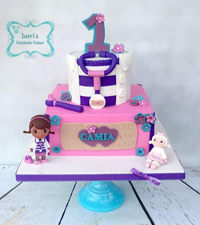 Miraculous Doc Mcstuffins Birthday Cake Cake By Lori Mahoney Cakesdecor Funny Birthday Cards Online Inifodamsfinfo