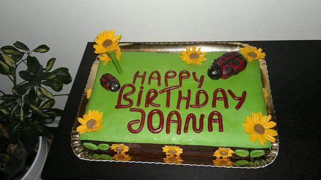 Birthday cake for my niece joana