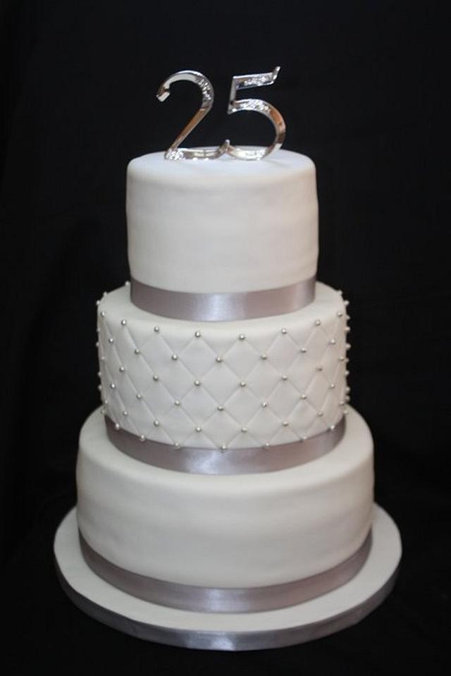 25th Wedding Anniversity Cake