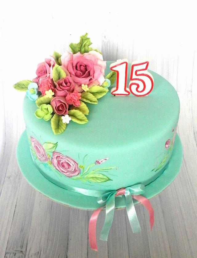 Tremendous 15Th Birthday Cake Cake By Daria Cakesdecor Funny Birthday Cards Online Inifofree Goldxyz