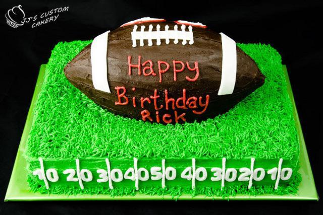 Football 50th Birthday Cake