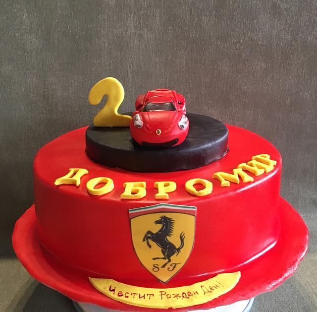 Ferrari cake for boy