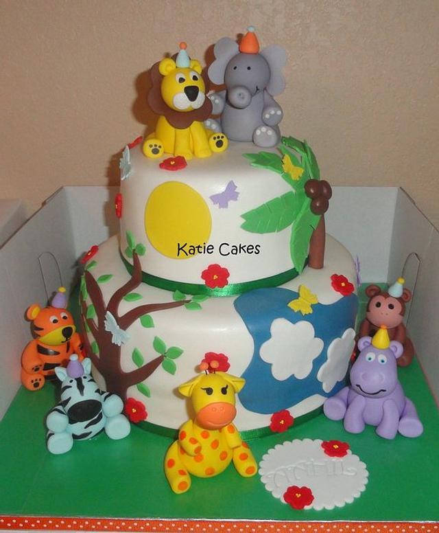 Safari Cake and Cupcakes