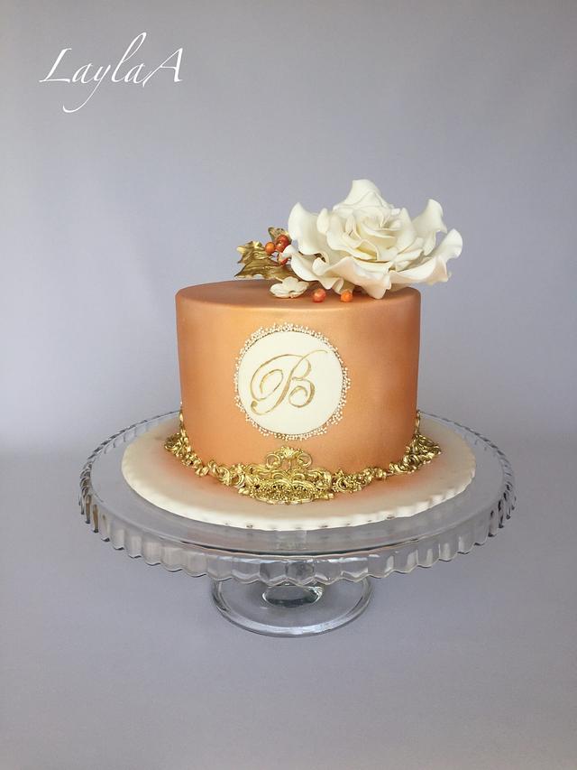Prime Elegant Birthday Cake Cake By Layla A Cakesdecor Personalised Birthday Cards Veneteletsinfo