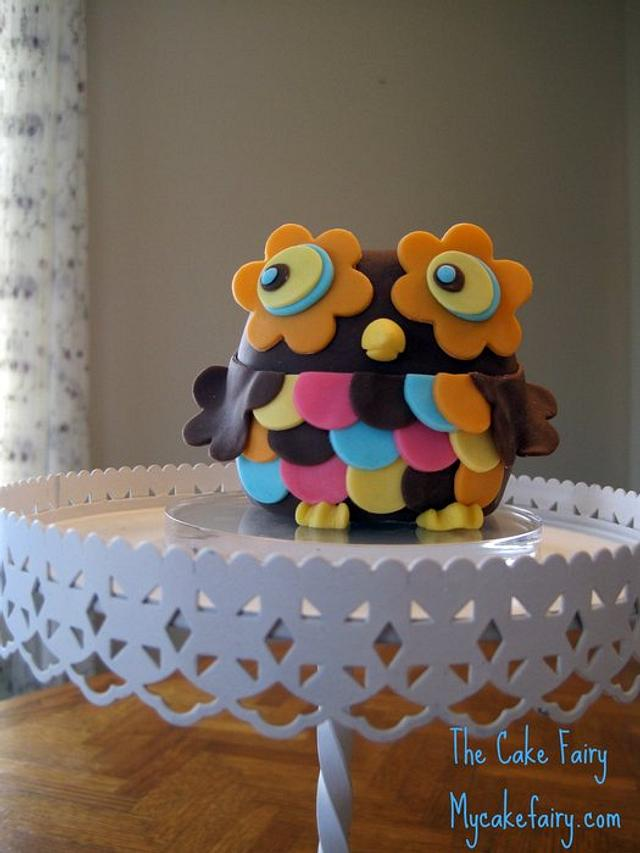 Sweet Owl Cake Topper
