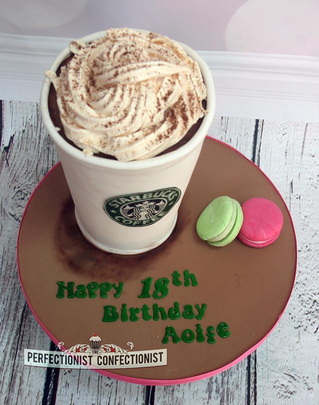 Superb Aoife Starbucks Birthday Cake Cake By Niamh Geraghty Cakesdecor Funny Birthday Cards Online Unhofree Goldxyz