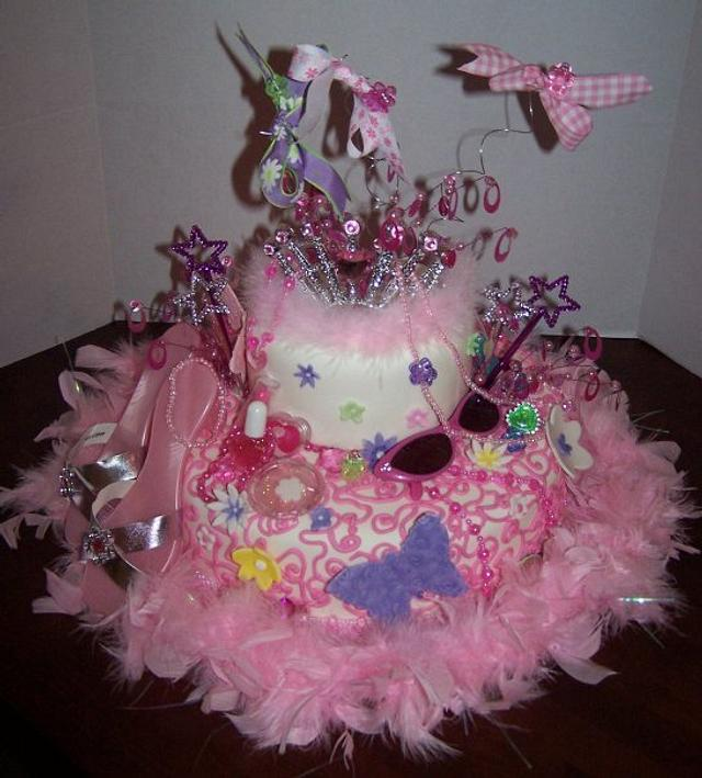 Fantastic Fancy Nancy Birthday Cake By Cherissweets Cakesdecor Funny Birthday Cards Online Barepcheapnameinfo