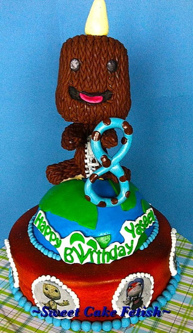 Miraculous Little Big Planet Sack Boy Cake By Heidi Cakesdecor Birthday Cards Printable Riciscafe Filternl