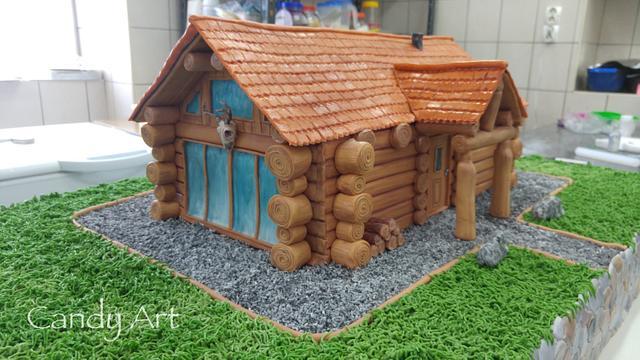 Loghouse cake