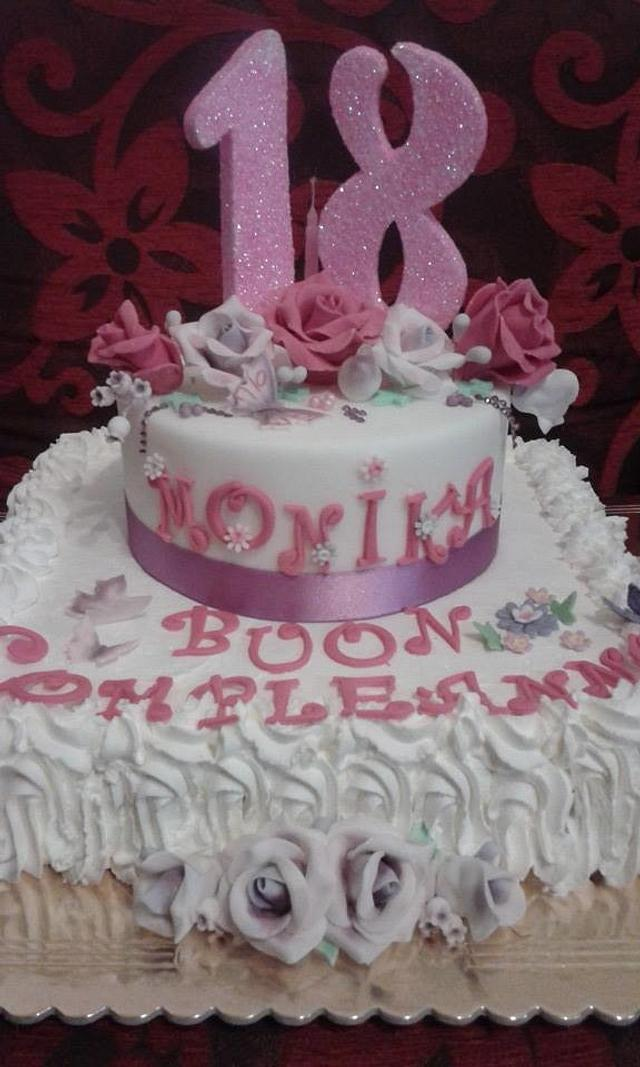 THE FIRST BIRTHDAY CAKE OF MONIKA