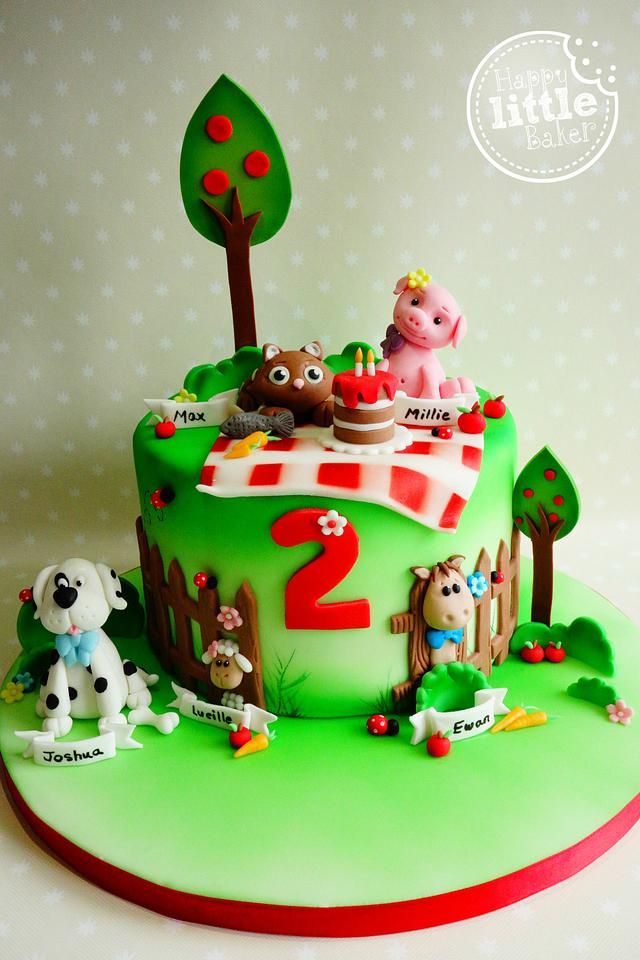 Awesome Animal Themed Birthday Cake Cake By Happy Little Baker Cakesdecor Birthday Cards Printable Trancafe Filternl