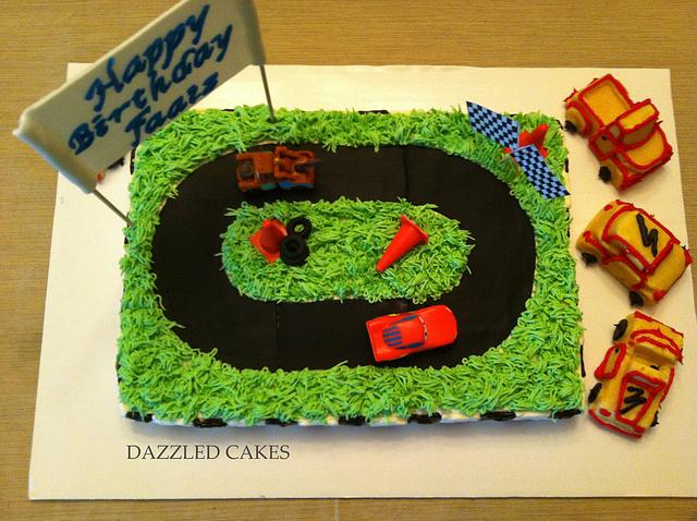 Astonishing Racing Car Birthday Cake Cake By Memona Khalid Cakesdecor Funny Birthday Cards Online Elaedamsfinfo