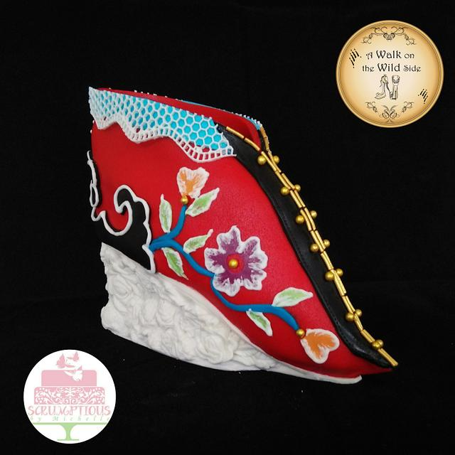 Lotus shoe (A Walk on the Wild Side Collaboration)