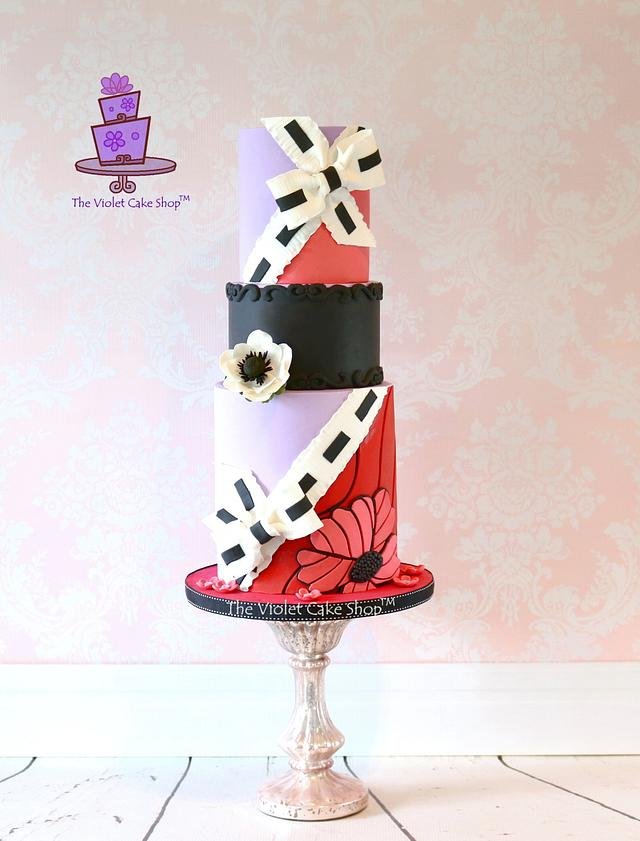 Viktor & Rolf FASHION INSPIRATION Cake - Red & Purple Van Gogh