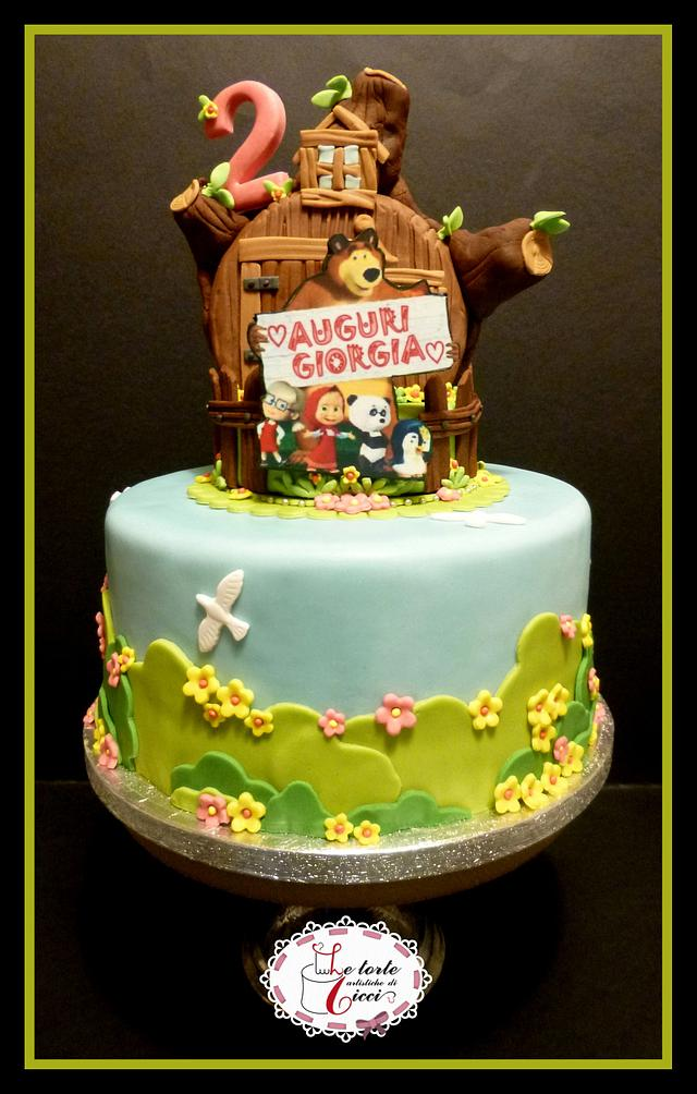 Fabulous Masha And Bear Birthday Cake Cake By Le Torte Cakesdecor Funny Birthday Cards Online Aeocydamsfinfo