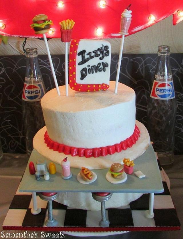 Wondrous 50S Diner Birthday Cake Cake By Samantha Eyth Cakesdecor Funny Birthday Cards Online Necthendildamsfinfo