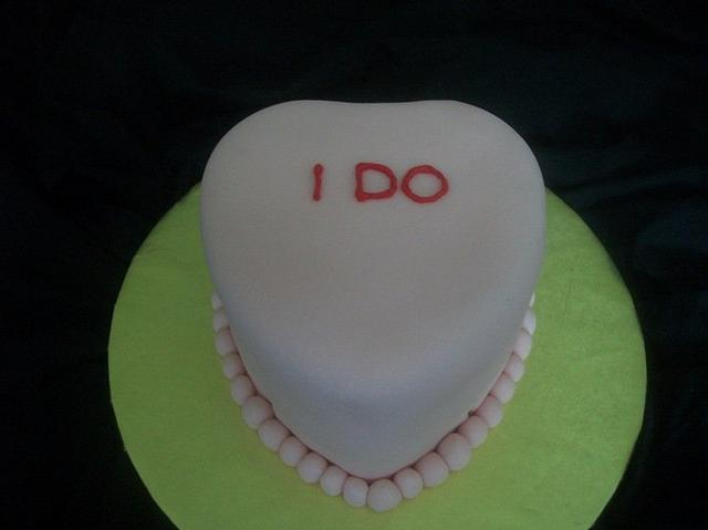 Conversation Heart Wedding Cake