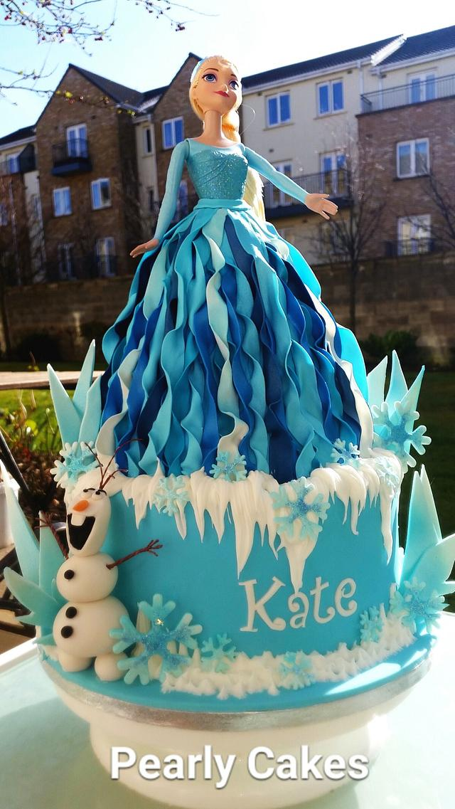 Superb Elsa Frozen Doll Cake Cake By Pearly Cakes Cakesdecor Funny Birthday Cards Online Fluifree Goldxyz