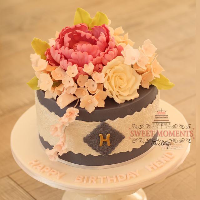 Botanical Birthday Cake
