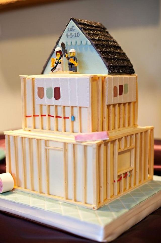 House Construction Cake