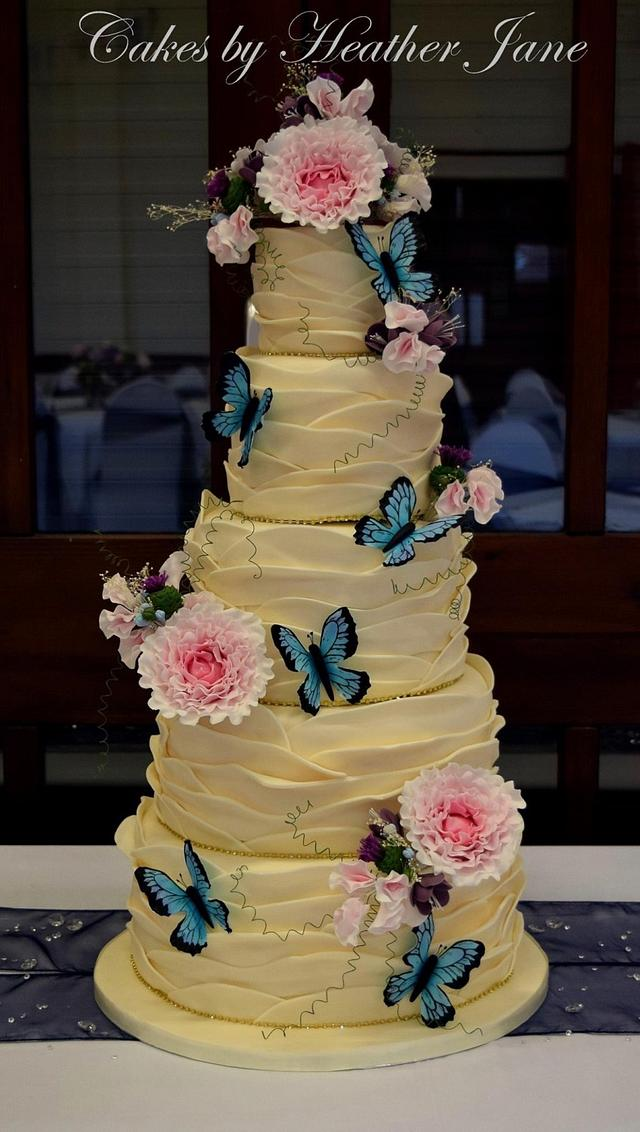 Thistle wedding cake