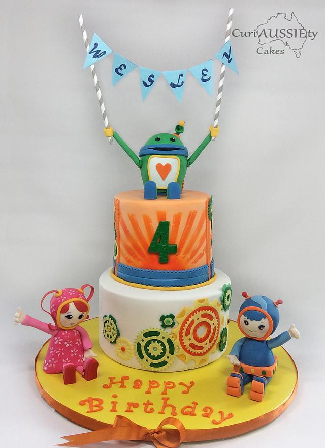 Superb Umizoomi Birthday Cake Cake By Curiaussiety Cakes Cakesdecor Personalised Birthday Cards Arneslily Jamesorg