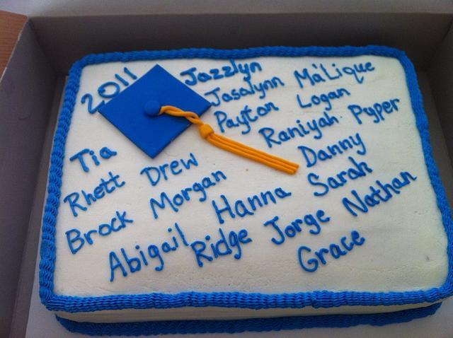 kindergarten graduation cakem