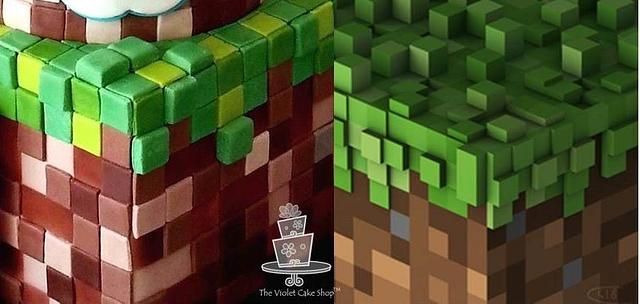 2 Tier MINECRAFT with Sword Topper for Tyler