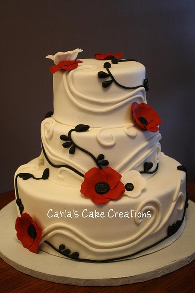 Remembrance Day Wedding Cake