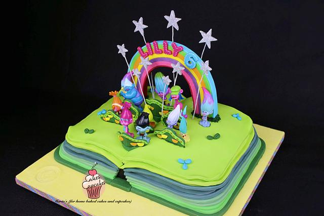 Trolls Cake - Poppy's Scrapbook
