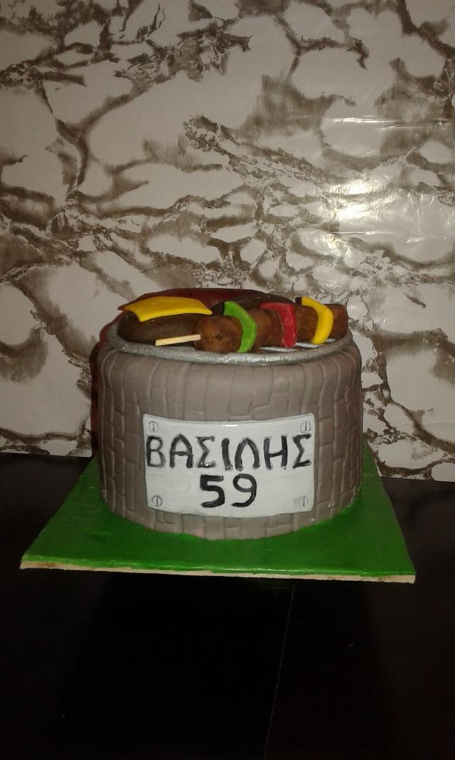 Barbecue cake