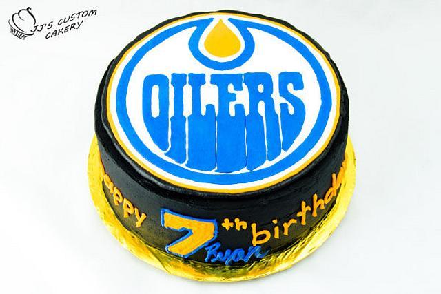 Edmonton Oilers Birthday Cake