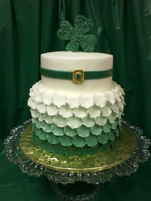 Peachy St Patricks Day Birthday Cake By Cheryls Creative Cakesdecor Personalised Birthday Cards Cominlily Jamesorg