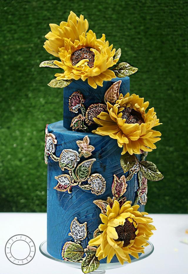 Astonishing Still Life The Sunflowers Birthday Cake Cake By Cakesdecor Funny Birthday Cards Online Necthendildamsfinfo