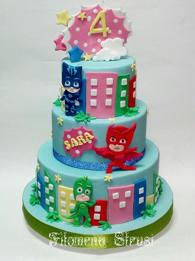 pj mask cake - cakefilomena - cakesdecor