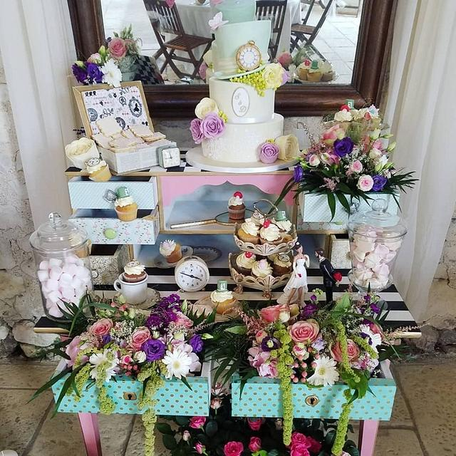 wedding candy bar Alice aux pays des merveilles