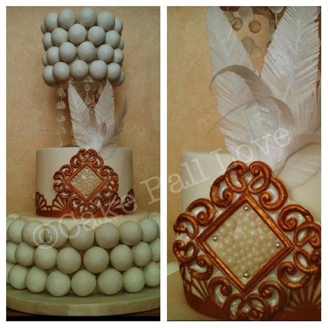 Great Gatsby Cake Ball Cake