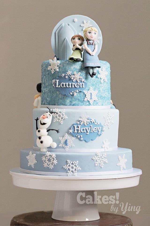 2-in-1 Family /Frozen cake