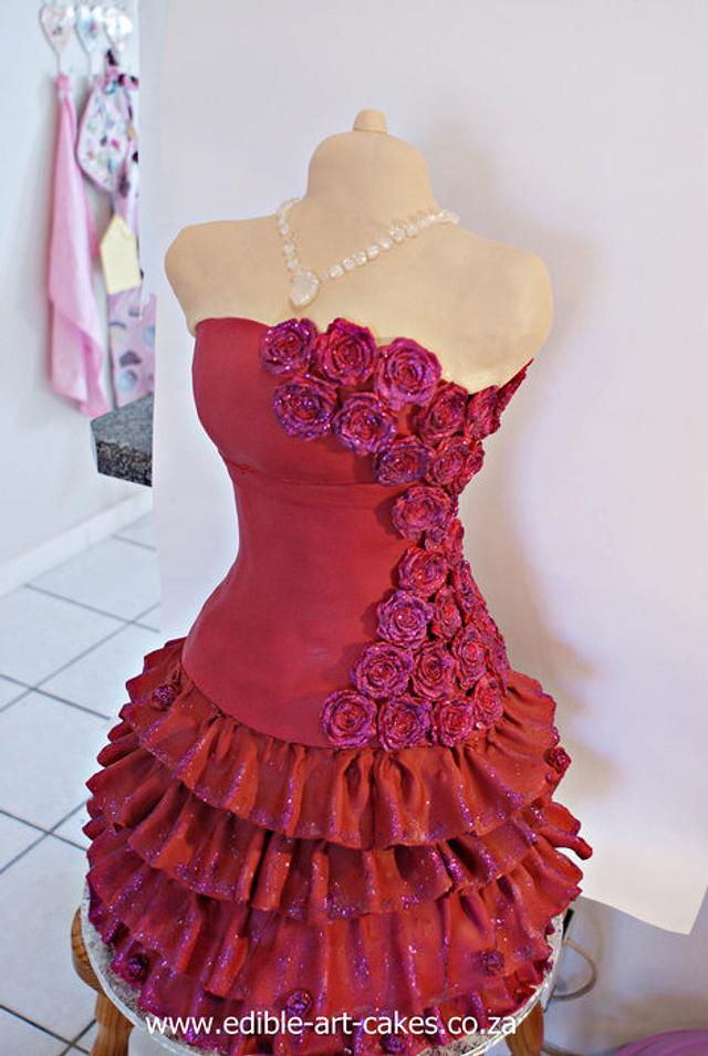 Red Tutu dress cake