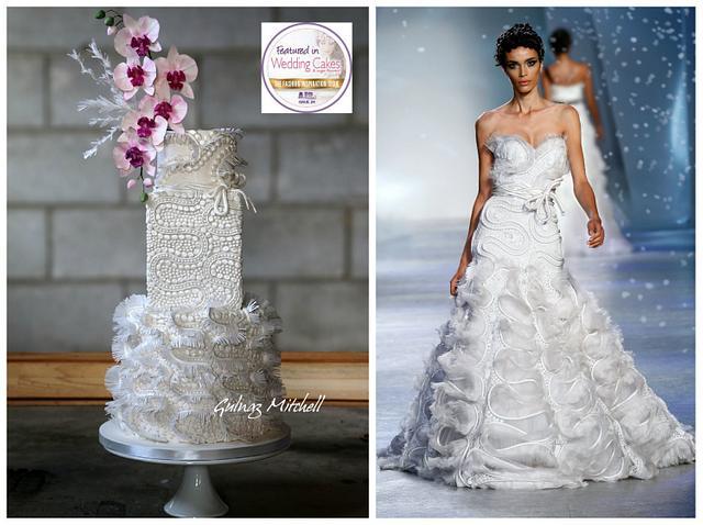Zuhair Murad inspired fashion cake